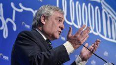 El presidente del Parlamento Europeo, Antonio Tajani. Foto: AFP
