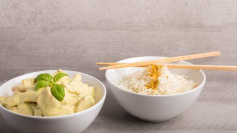 Receta de Arroz con tofu al curry