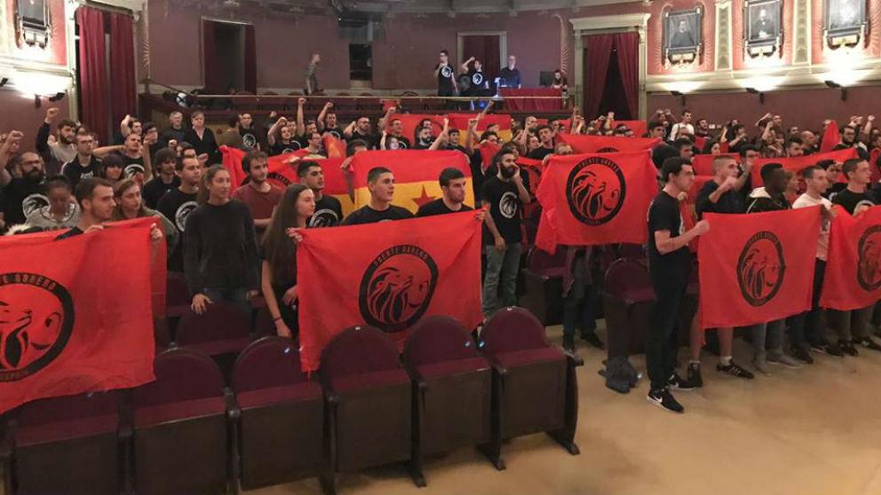 Presentación del Comité pro-Frente Obrero el pasado 14 de octubre en el Ateneo de Madrid.