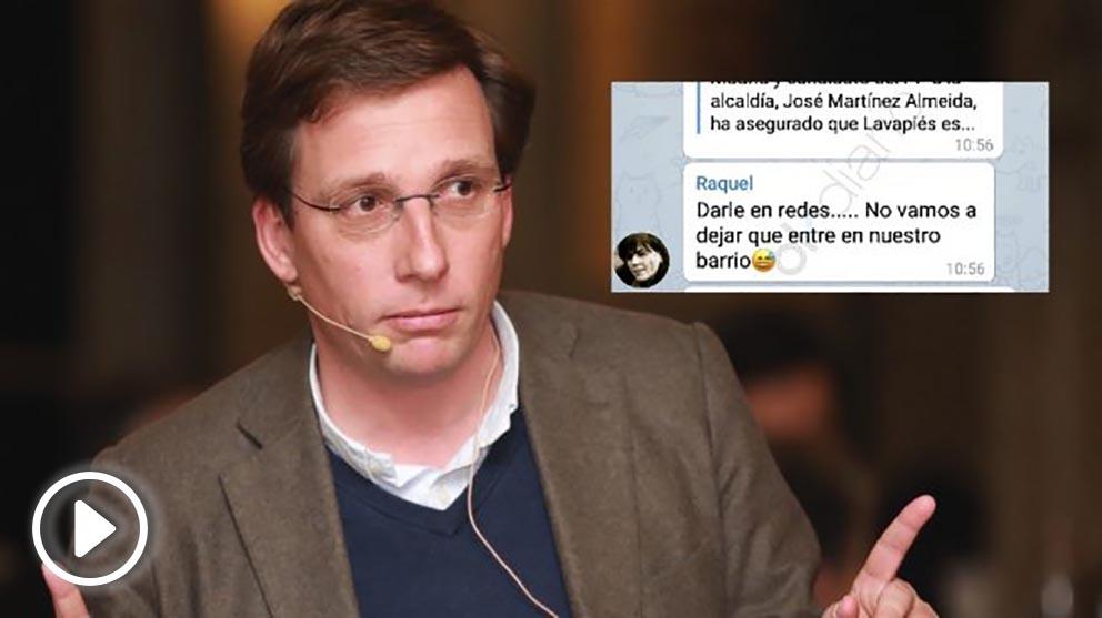 José Luis Martínez-Almeida y el mensaje de Telegram.