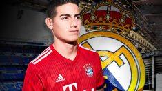 James regresa al Real Madrid.