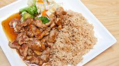 Receta de arroz integral con verduras y pollo