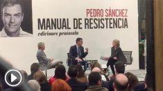 El presidente del Gobierno, Pedro Sánchez ha presentado este jueves su libro 'Manual de Resistencia'