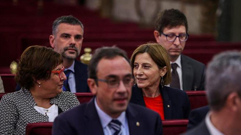 Santi Vila sentado en el banquillo de los acusados en el juicio al procés junto al resto de los líderes independentistas. Foto: EFE