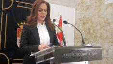 Silvia Clemente en la rueda de prensa en la que ha anunciado su dimisión de todos los cargos que ostentaba en el PP de Castilla La Mancha. Foto: Europa Press