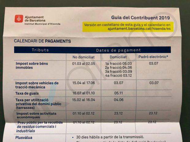 Colau vuelve a despreciar el español: edita su guía de impuestos sólo en catalán