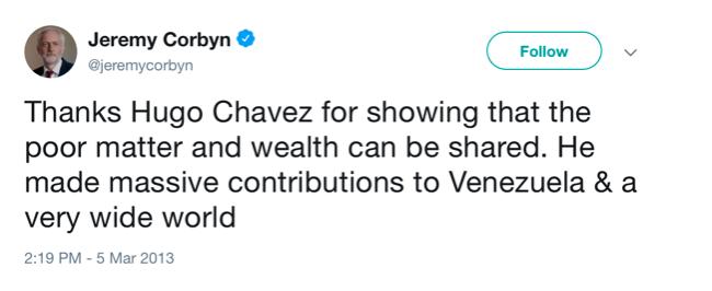 Sánchez inicia la precampaña con Corbyn, defensor de terroristas, de la dictadura chavista y antisemita