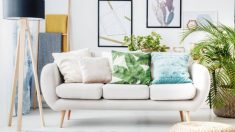 Guía de pasos para colocar cojines en el sofá