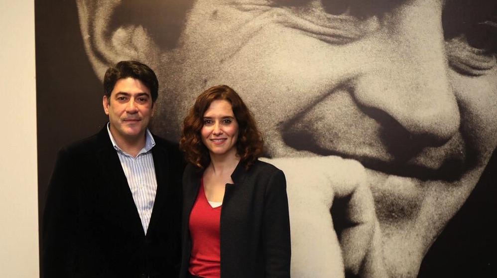 David Pérez e Isabel Díaz Ayuso. (Foto. PP de Madrid)