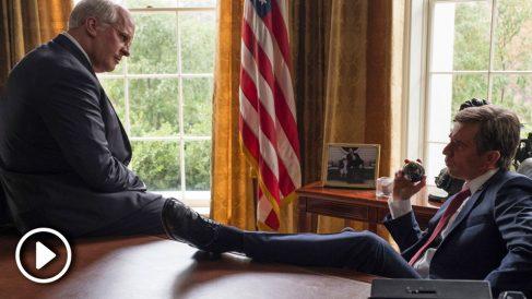 Christian Bale y Sam Rockwell interpretan a Dick Cheney y George W. Bush en 'El vicio del poder'.