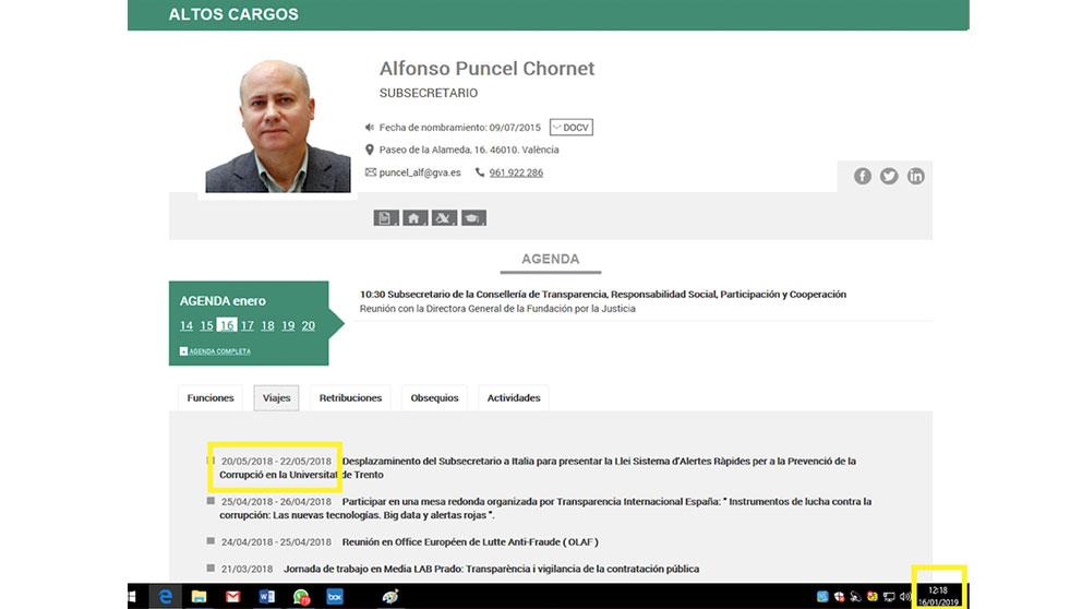 Alfonso Puncel, número 3 de la Consejeería de Transparencia de la Generalitat Valenciana