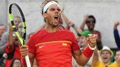 Rafa Nadal defiende la camiseta española en los Juegos Olímpicos de Río 2016.