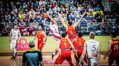Partido de la selección española ante Letonia. (FIBA)