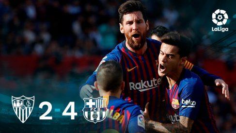 Leo Messi decidió un gran partido en Sevilla.