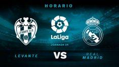 Levante – Real Madrid: horario del partido de la jornada 25 de la Liga Santander.