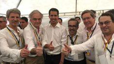 encuentro de la delegación del PP con Juan Guaidó en Venezuela. Foto: Europa Press