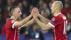 Ribery y Robben durante un partido. (AFP)