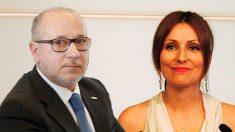 El senador de VOX, Francisco José Alcaraz, y la portavoz en el Senado del Grupo Mixto, Lorena Roldán