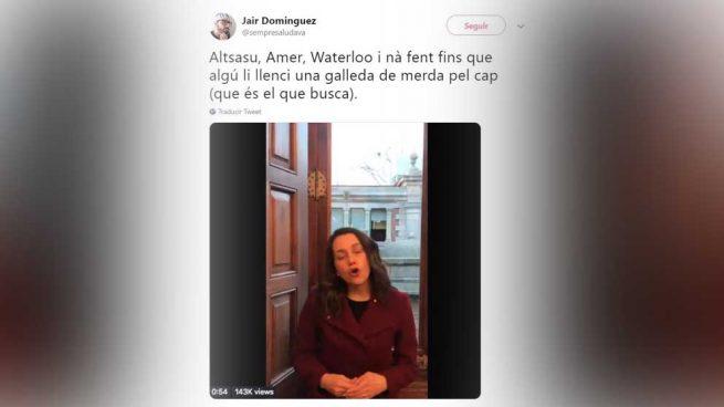 """b9d2f088eaa Un presentador de TV3 dice que Arrimadas busca que le echen """"un barreño de  mierda por la cabeza"""""""