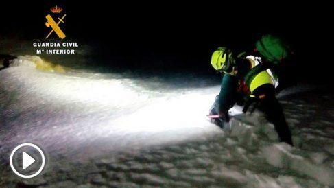 Rescate del esquiador fallecido en los Picos de Europa.