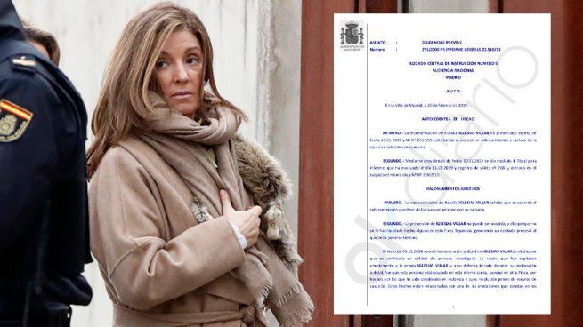 El juez rechaza el archivo de la imputación de la mujer de Bárcenas en el 'caso fondos reservados'