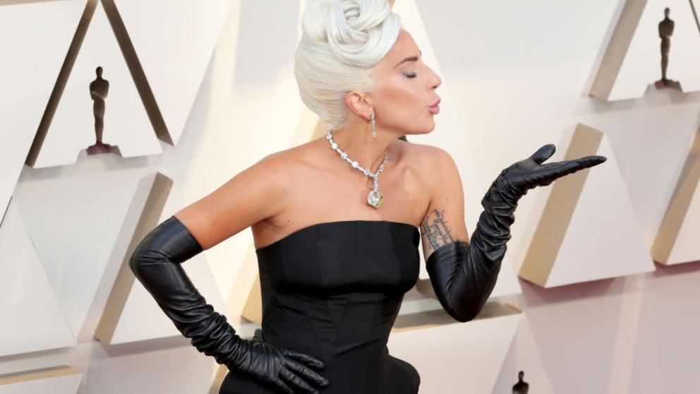 Lady Gaga, en la alfombra roja de los Premios Oscar 2019.