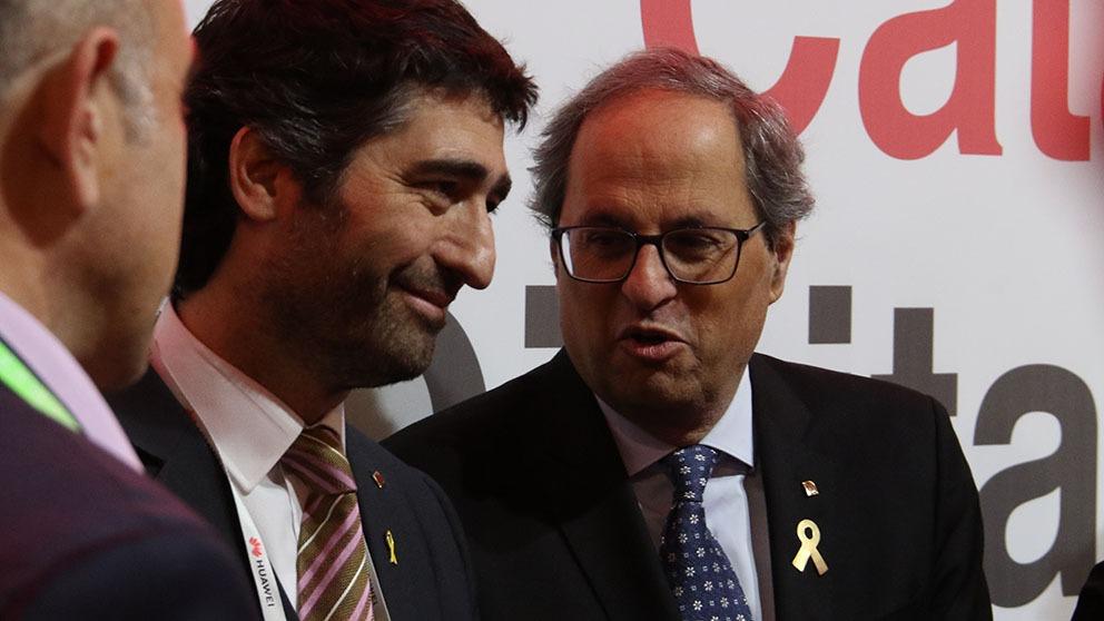 Quim Torra y Jordi Puigneró, consejero de Políticas Digitales y Administración Pública. (Foto: Enrique Falcón)