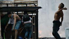 Enfrentamientos en la frontera de Venezuela con Colombia. Foto: Europa Press