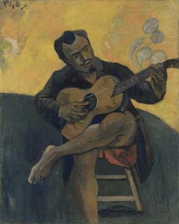 'El guitarrista' (Paco Durrio) retratado por Paul Gauguin.