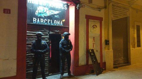 club de motos Hells Angels de Barcelona. Foto: Europa Press