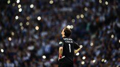 El portero español Iker Casillas, durante un partido con el Oporto. (Getty)