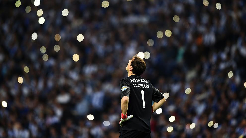 Iker Casillas, durante un partido con el Oporto. (Getty)