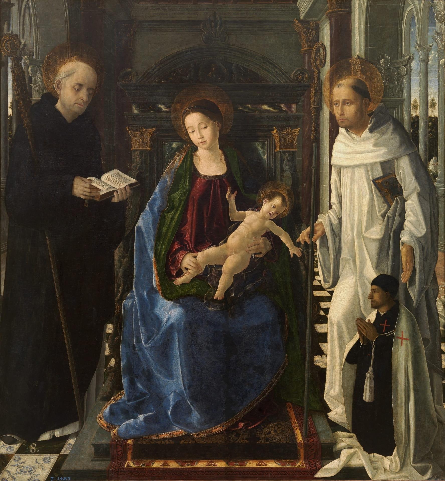 'La Virgen del caballero de Montesa' de Paolo de San Leocadio. @ Museo del Prado