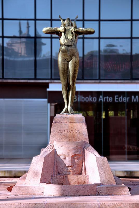 Monumento a Arriaga de Paco Durrio en Bilbao.