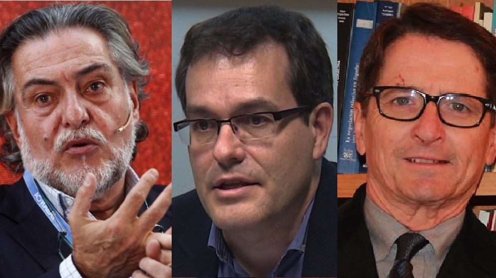 Pepu Hernández, Chema Dávila y Manuel de la Rocha, candidatos en las primarias del PSOE.