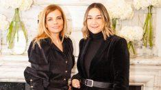 Raquel Oliva, embajadora de Net-a-Porter en España, y Lupe Puerta, directora de clientes VIP de Net-a-Porter, en el hotel Santo Mauro de Madrid.