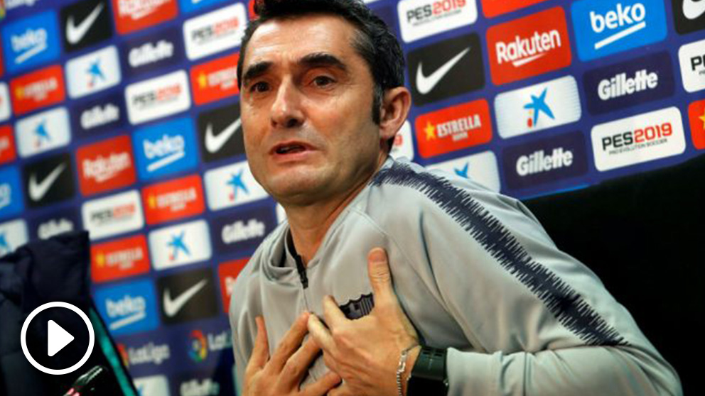 Ernesto Valverde, en rueda de prensa. (EFE)