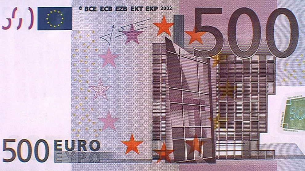 Billete de 500 euros.