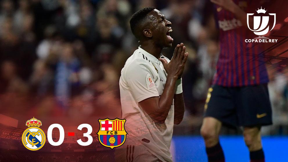 El Real Madrid, eliminado de la Copa del Rey tras caer (0-3) ante el Barcelona.