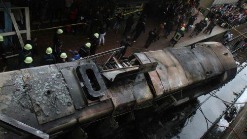 Siniestro en Egipto. Foto: AFP