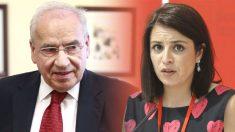 La portavoz del PSOE en el Congreso, Adriana Lastra, y el ex vicepresidente Alfonso Guerra.