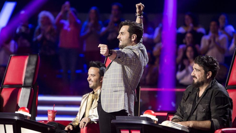 Bustamante se lo pasa en grande en 'La Voz'. (Foto: Antena 3)