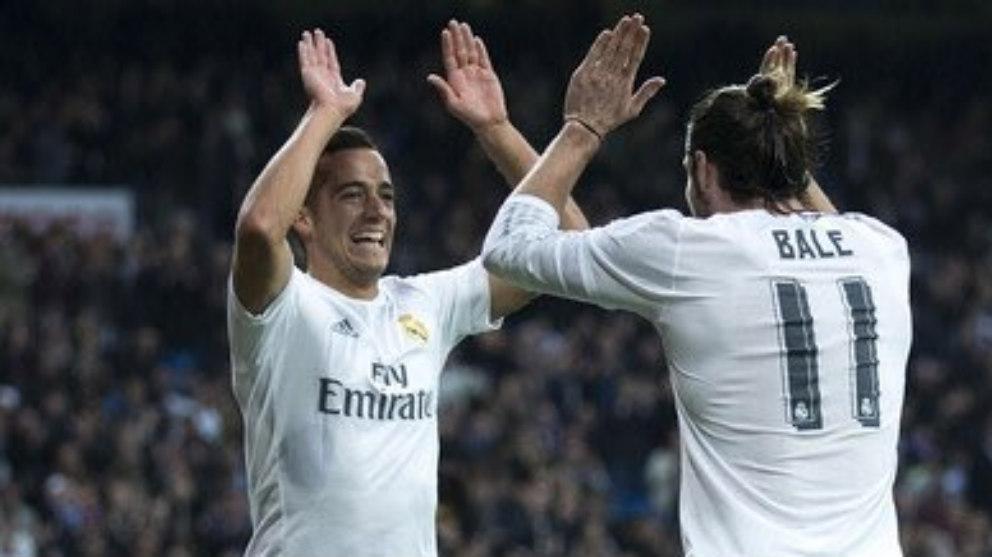 Bale subió una foto a Twitter celebrando un gol junto a Lucas Vázquez. (Twitter)