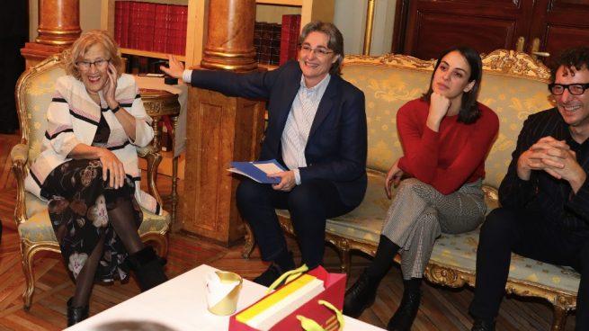 Manuela Carmena, Marta Higueras, Rita Maestre y Felipe Llamas. (Foto. Madrid)