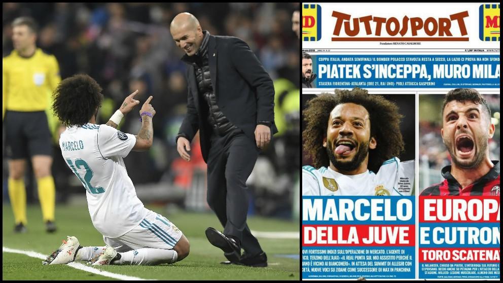 'Tuttosport' ve a Marcelo y Zidane juntos en la Juve la próxima temporada.
