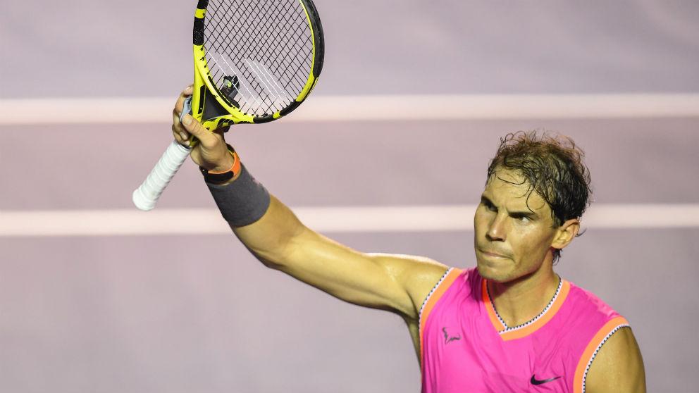 Rafa Nadal, tras vencer a Micha Zverev en Acapulco. (AFP)