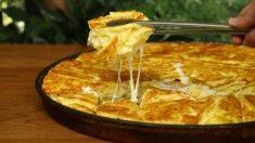Pasta filo rellena de queso