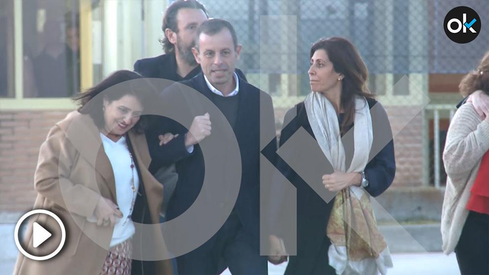 Sandro Rosell estuvo acompañado por su familia.