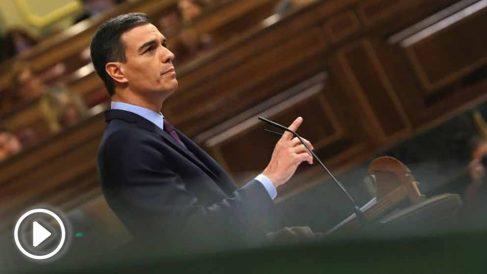 El presidente del Gobierno, Pedro Sánchez, en el Congreso de los Diputados. (Foto: Efe)