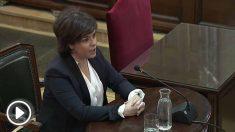 Soraya Sáenz de Santamaría declara en el Tribunal Supremo en el juicio del procés